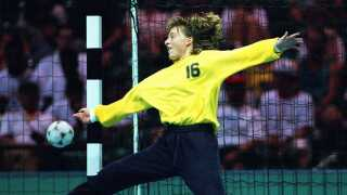 Susanne Munk Lauritsen i aktion i semifinalen mod Norge ved OL i 1996.