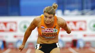Dafne Schippers i aktion under EM i Amsterdam tidligere på sommeren.
