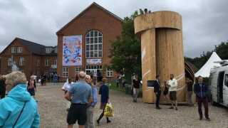 Fra udkigstårnet kan man se ud over hele Kulturpladsen.
