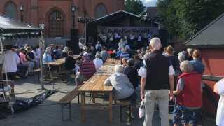 Kulturtorvet i centrum af Nykøbing Mors tilbyder gratis koncerter under hele Kulturmødet.