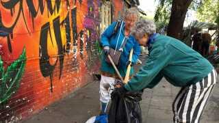 Christianitterne er i gang med at rydde Pusher Street.