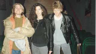 Her ses Kurt Cobain, en veninde og Craig Montgomery sammen. Craig var med på bandets turné i 1991.