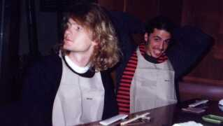 Craig Montgomery er taknemmelig for de oplevelser, han fik som lydmand for Nirvana. Her ses han sammen med trommeslageren Dave Grohl under turnéen.