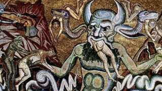 Sådan så Helvede og Djævlen ud ifølge den florentinske maler Coppo di Marcovaldo, som levede i midten er 1200-tallet.