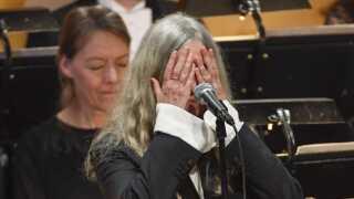 Patti Smith sang forkert, da hun skulle fremføre Bob Dylans 'A Hard Rain's A-Gonna Fall' under Nobelprisuddelingen i Stockholm den 10. december, 2016.