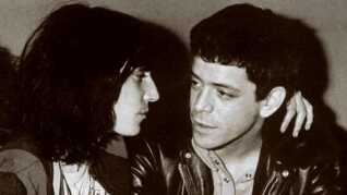 Patti Smith og Lou Reed (1942-2013) fotograferet i New York, 1976.