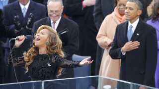 Beyoncé sang i 2013 den amerikanske nationalsang ved Barack Obamas anden indsættelsesceremoni.