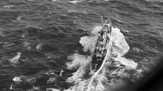 Det amerikanske kystbevogtningsskib Campbell under eftersøgningen af Hans Hedtoft.
