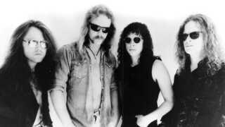 Sådan så Metallica ud, da Michael Poulsen var teenager i 90'erne. På billedet ses danske Lars Ulrich (tv.) og amerikanerne James Hetfield, Kirk Hammet og Jason Newsted. Sidstnævnte er dog i dag erstattet af Robert Trujillo.