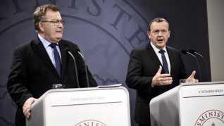 Lars Løkke Rasmussen præsenterer planer om udflytning af statslige arbejdspladser på et pressemøde 1. oktober 2015.