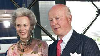 Prinsesse Benedikte og prins Richard var med til at fejre prins Henriks 75-års fødselsdag i 2009. Her ankommer de til koncert i DR Byen.
