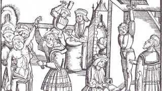 Middelalderen viste ingen nåde overfor folk, der forbrød sig mod loven. Med indførelsen af Jyske Lov i 1241 bliver selvtægt afskaffet. Nu er det ikke folk selv, der tager sig af at dømme og straffe.