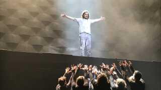 Simon Mathew spiller sin første hovedrolle i 'Jesus Christ Superstar' på Aarhus Teater.