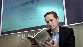 Det var med Kristian Jensen (V) ved roret som skatteminister, at inddrivelsessystemet EFI blev bestilt. Billedet er fra november 2006 under et pressemøde med Rockwool Fondens Forskningsenhed.