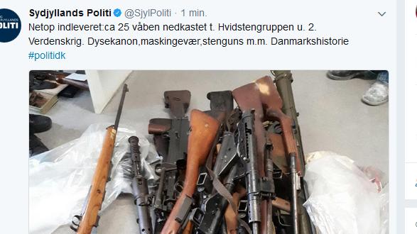 Tweet fra Syd- og Sønderjyllands Politi torsdag eftermiddag.