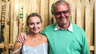 Danske Erik Fink Eriksen og hans norske kone Catherine Fink Eriksen var kommet hele vejen fra Oslo for at tage til Smukfest.