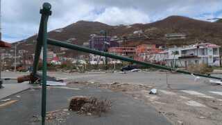 De Britiske Jomfruøer blev hårdt ramt af orkanen Irma.