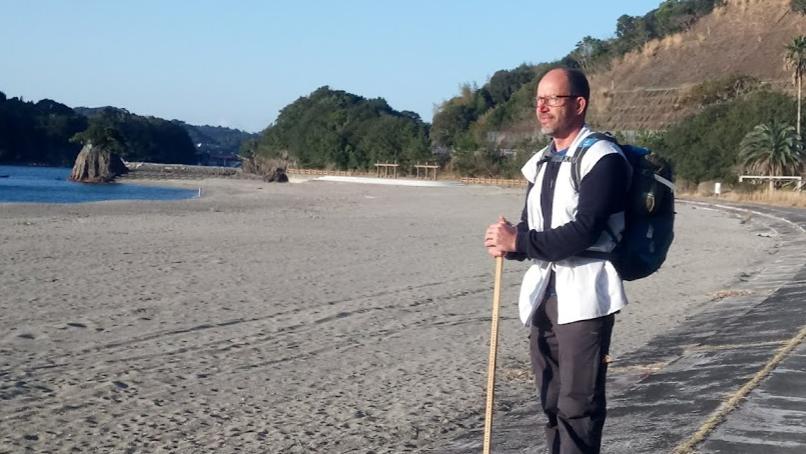 Michael Boesen gik den japansk ø, Shikoko, rundt på 53 dage.