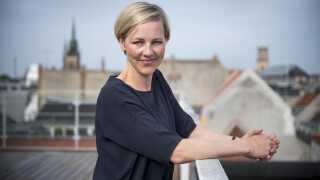 """Ida Auken, MF Radikale talte ved morgenmøde """"kvinder på toppen"""" på Berlingske."""
