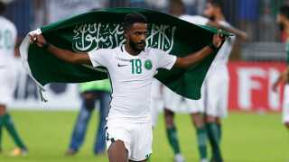 Nawaf Al Abed fejrer VM-kvalifikationen, men Saudi Arabien kan næppe nå samme højder ved dette VM som ved VM i USA 1994.