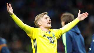Emil Forsberg er den nye stjerne i det svenske angreb.