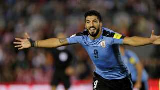 Luis Suarez har scoret 49 mål i 95 kampe for Uruguay.