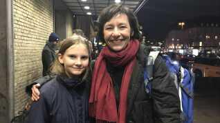 Kristin Ledt og datteren Anna var særligt glade for åbningsceremonien i forbindelse med Aarhus 2017.