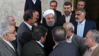 Den iranske præsident, Hassan Rouhani, mener, at folk har lov til at vise deres utilfredshed med styret.
