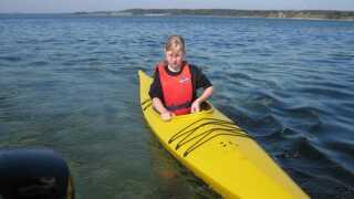 Karina gik på idrætscross-linjen, hvor hun blandt andet sejlede i kajak, boede i shelter og klatrede.