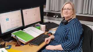 Susanne Winther-Nielsen var blandt en fortrop på fire, der begyndte Erhvervsstyrelsens arbejde i Nykøbing Falster den 1. august 2016.