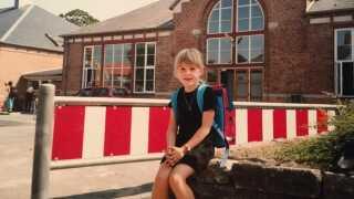 Christina Krzyrosiak Hansen som barn på Østre Skole i Holbæk