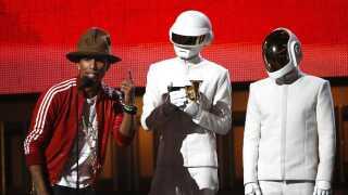 Daft Punk modtog en Grammy sammen med Pharrell Williams for nummeret 'Get lucky' i 2014.