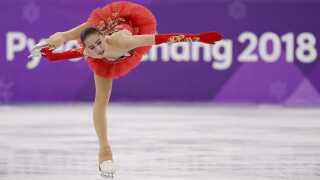 Alina Zagitova under det frie program, hvor hun endte med at sikre sig guldet.