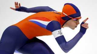 Ireen Wust på 1.000 meteren, hvor hun vandt guld foran Nao Kodaira fra Japan.