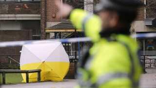 Det var på denne bænk i Salisbury, at de to russere blev fundet tidligere på måneden.
