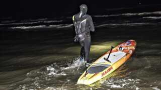 Casper startede fra Kjul Strand ved Hirtshal søndag klokken 01.20.