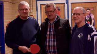 Hans Peter Hansen (tv.), Gustav Andersen (midten) og Preben Krabbe Jakobsen (th.) nyder alle godt af det nye 60+-initiativ.