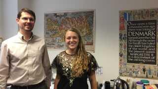 Troy Wellington Smith og Sara Ann Knutson er begge Ph.d.-studerende ved Department of Scandinavian på UC Berkeley.