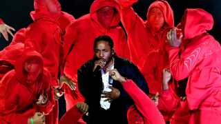 Kendrick Lamar til Grammy-showet. Januar 2018.