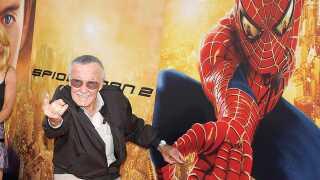 Her er det fra verdenspremieren på 'Spiderman 2', som Stan Lee har været medskaber af. (Photo by Frank Trapper/Corbis via Getty Images)
