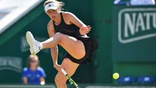 Wozniacki havde gang i det store slagrepertoire under turneringen i Eastbourne.
