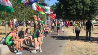 Bybilledet i Odense har i løbet af den sidste uge været præget af VM i multisport, hvor atleter fra hele verden deltager.
