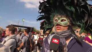 Peter Heyn til demonstration mod tildækningsforbuddet på Nørrebro i København