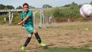 Ahmed Bahij går normalt til fodboldtræning tre gange om ugen.