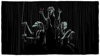 Spillet er brudt op af tegneserier, der driver historien fremad og byder på et væld af karakterer. Eksempelvis optræder nornerne, der var den nordiske mytologis skæbnegudinder.