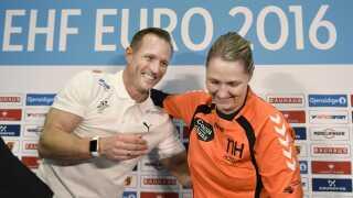 Klavs Bruun Jørgensen og Helle Thomsen. Sidstnævnte er landstræner for Holland.