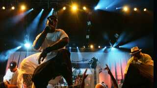 Wu?Tang Clan performs during the Rock The Bells music fest at the Hyundai Pavilion in Devore, Saturday, August 11, 2007.  (Photo by Gina Ferazzi/Los Angeles Times via Getty Images)