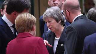 Theresa May talte også med den tyske kansler, Angela Merkel, i sidste uge under topmødet i Bruxelles. Der er dog ikke vilje blandt EU-landene til at genforhandle brexitaftalen.