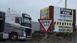 Det er grænsen mellem Irland og Nordirland, der fortsat spænder ben for brexit-processen.