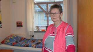 Ketty Christensen, der stadig bor i familiens parcelhus, har indrettet et af værelserne til, når børnebørnene er på besøg.